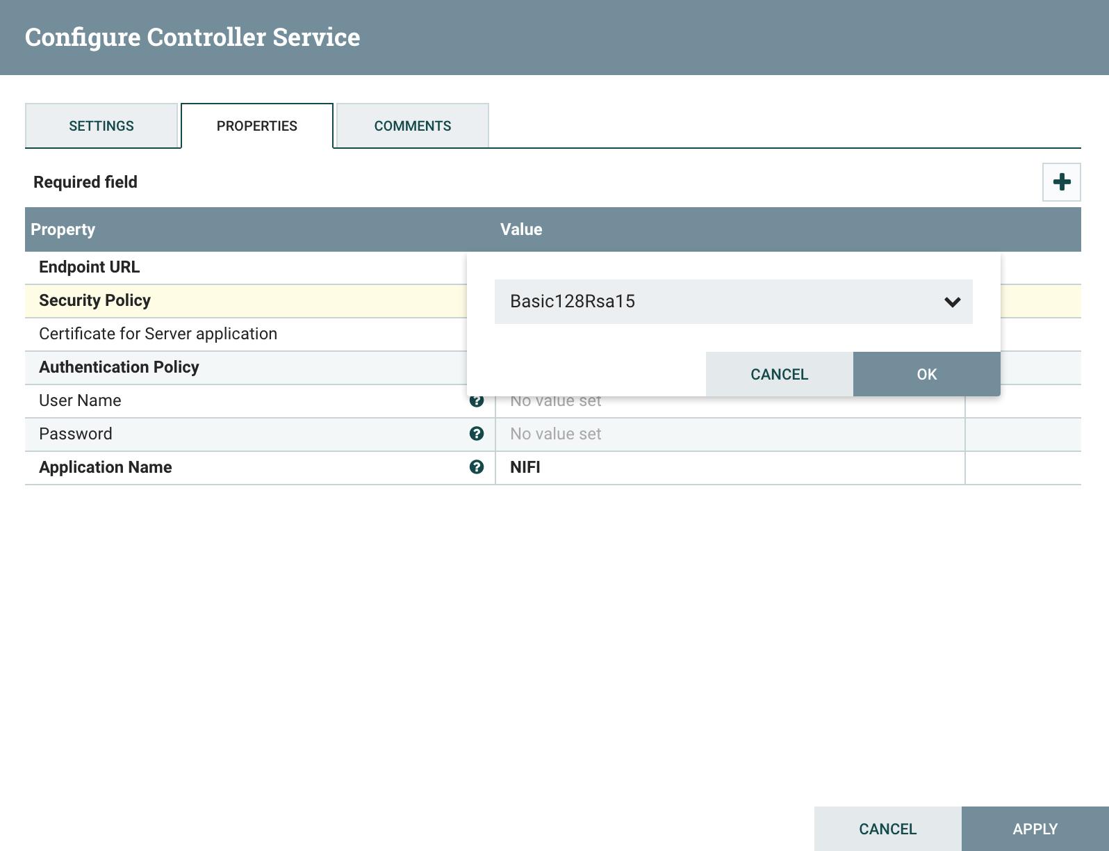 Configure controller service