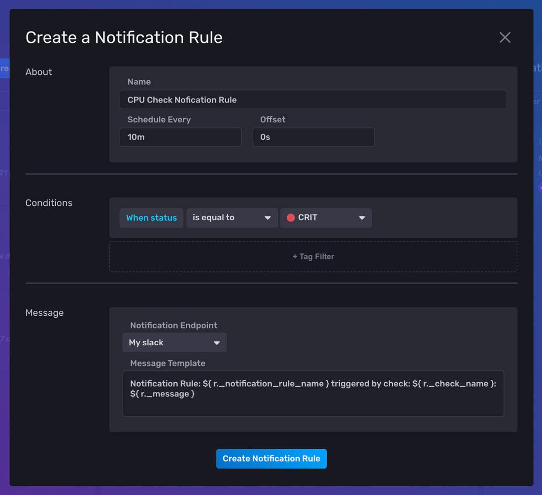Create a Notification Rule