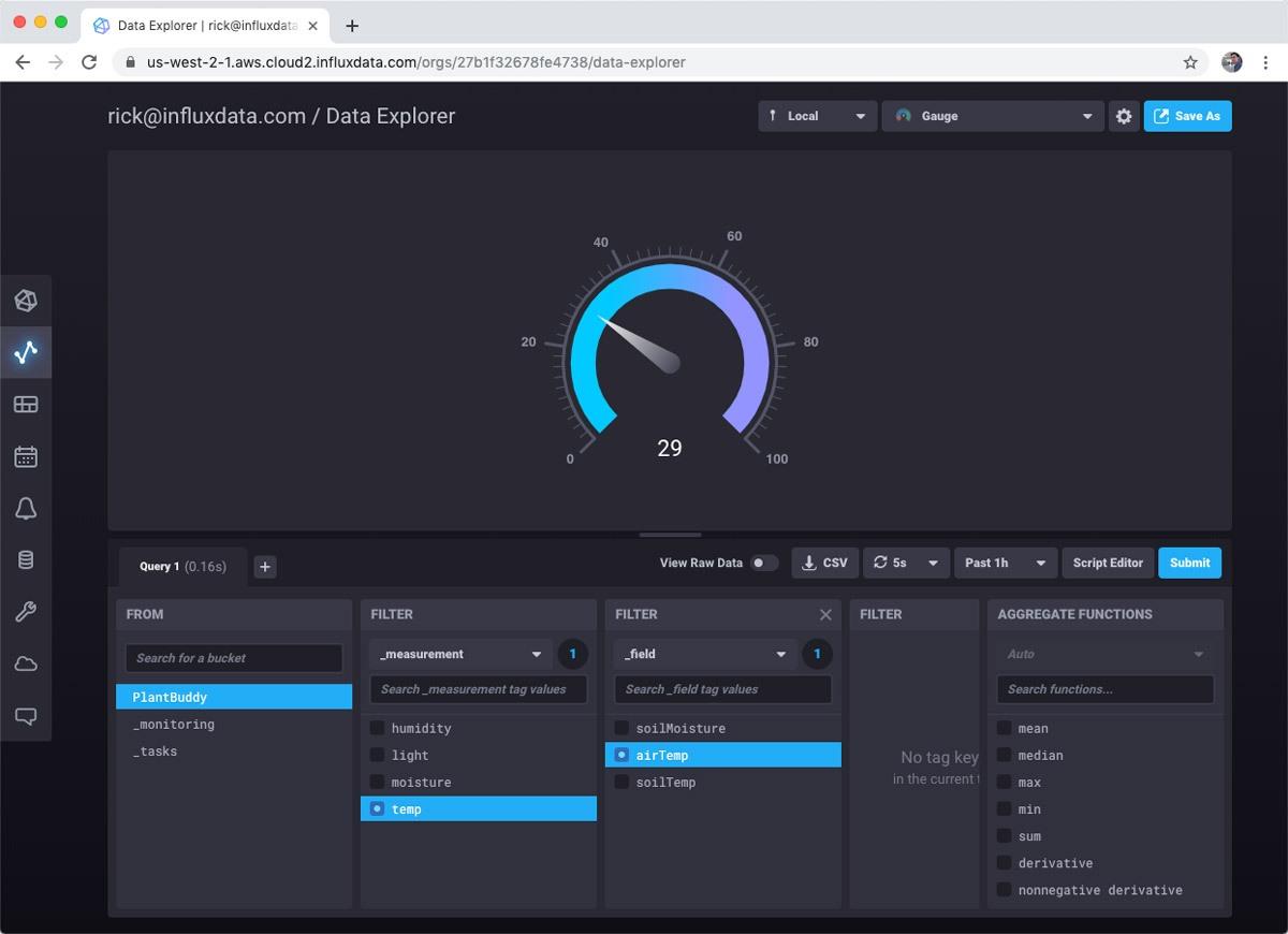 Data Explorer - sensor data