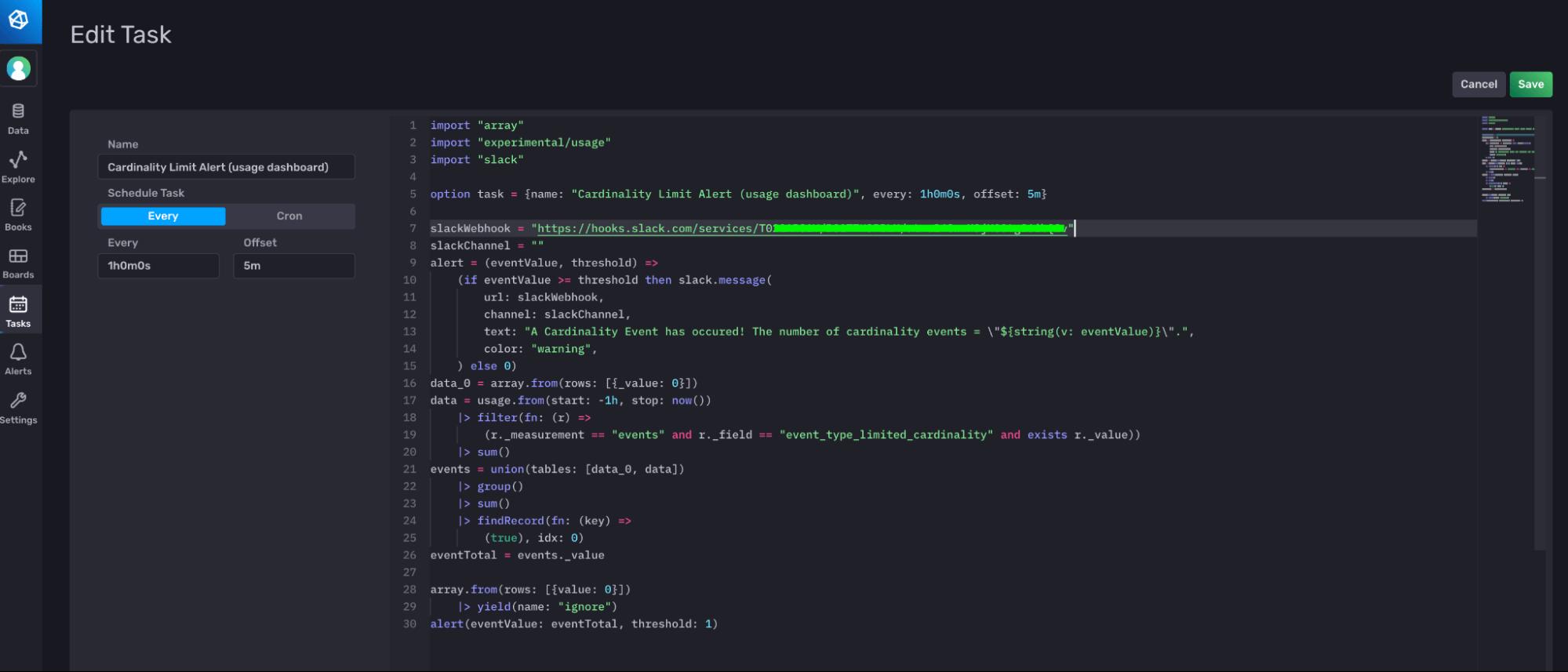 Edit Task dashboard