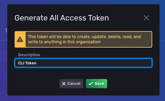 Generate All Access Token