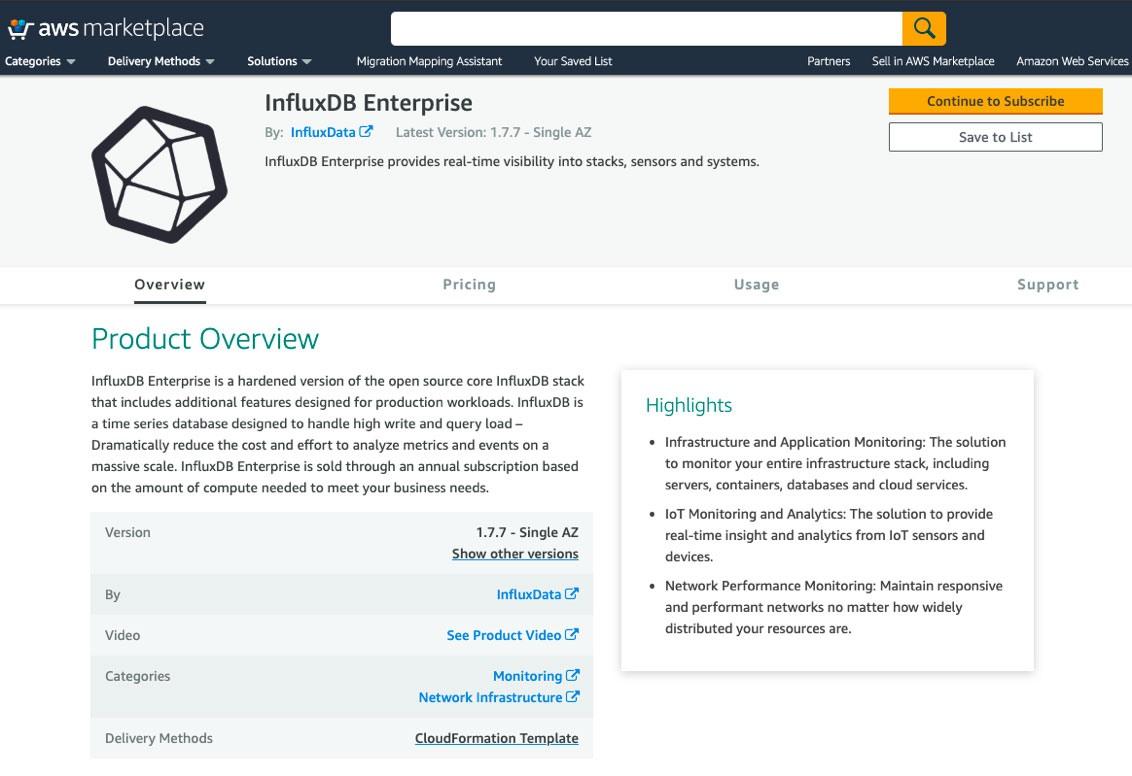 InfluxDB Enterprise AWS