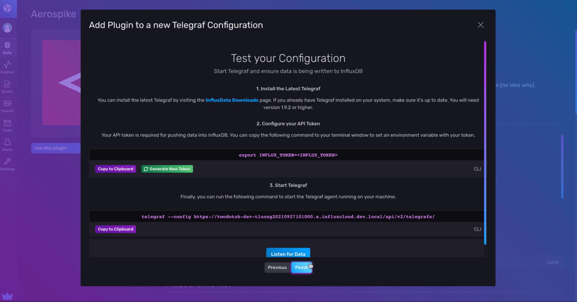 Test your Configuration