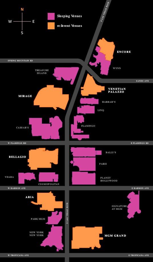 AWS ReInvent map