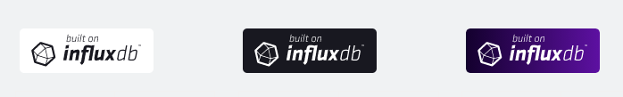 built on influxdb badges