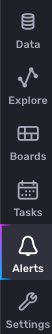 Alerts button