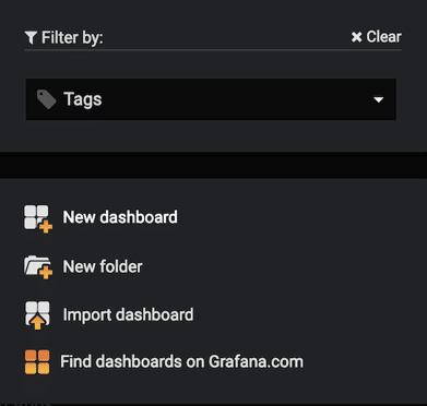Creating a new Grafana Dashboard