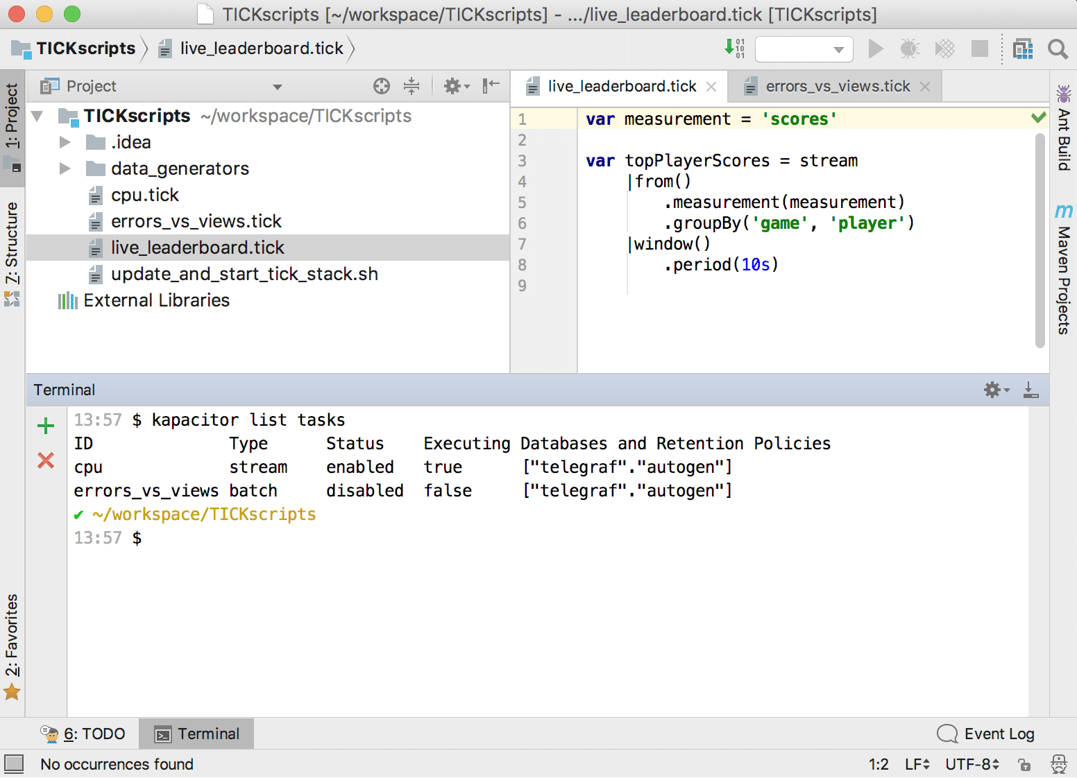 The State of TICKscript Development | InfluxData