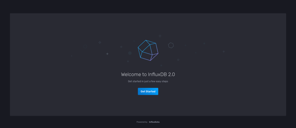 influxdb 2 welcome page