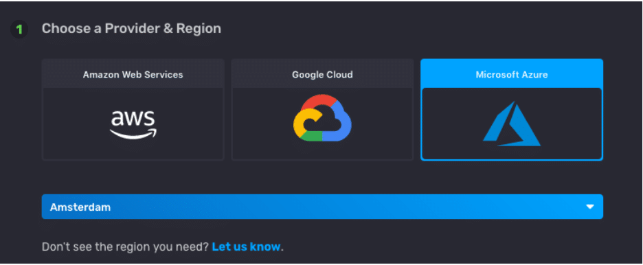 influxdb cloud provider region