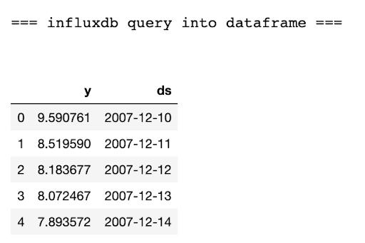 influxdb query dataframe