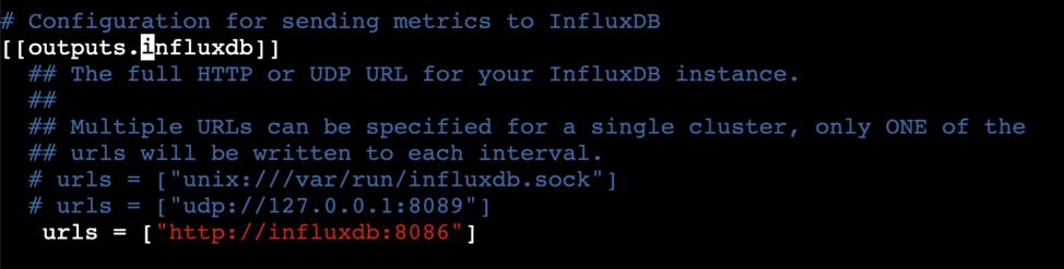 InfluxDB url update