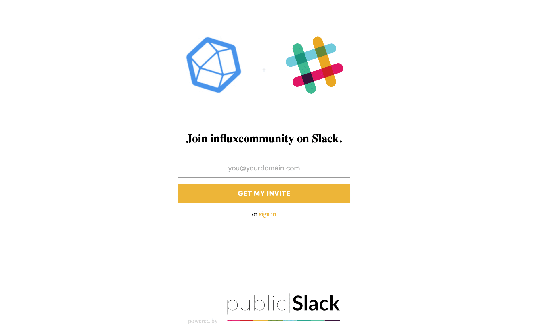 Join Influx Community on Slack