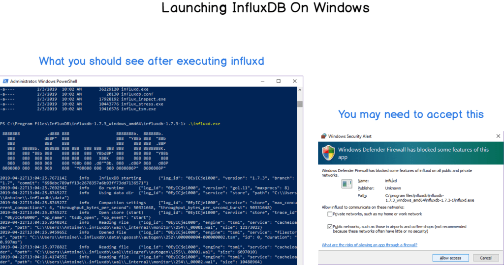 Launching InfluxDB on Windows