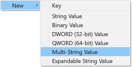 Multi-String value screenshot