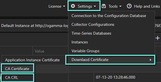 ogamma visual logger certificate