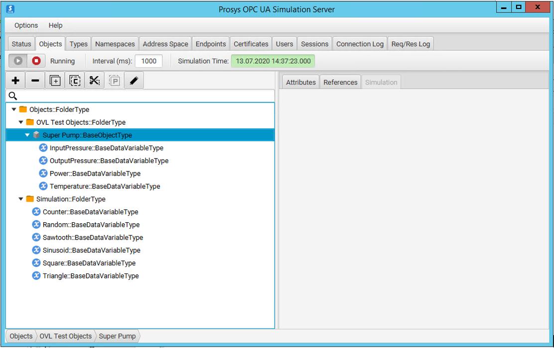 prosys opc-ua simulation server