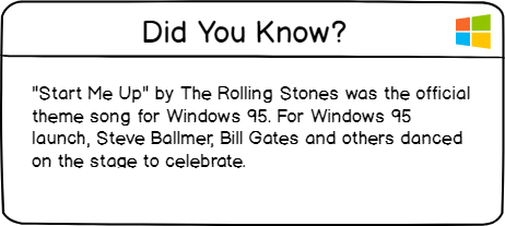 windows 95 did you know